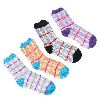 019-055 Носки махровые женские, р-р свободный, 80% хлопок, 17% полиэстер, 3% лайкра, 2-4 цвета, НЖ19-3