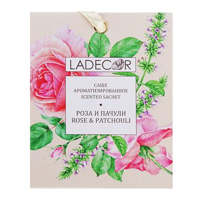 425-164 LADECOR Аромасаше с ароматом розы и пачули, 10 гр