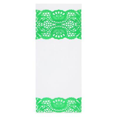 505-019 Пакет ПВХ, с кружевным рисунком, 15х34 см, 5 цветов