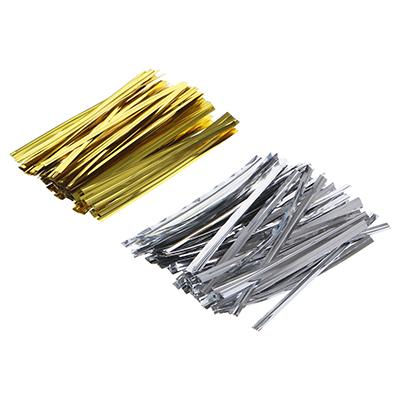 505-031 Зажим для пакета, фольга, металл, 100 шт 8 см