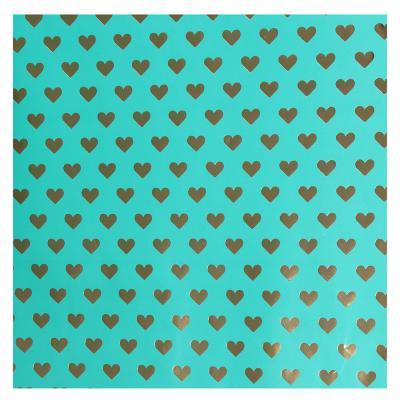 207-060 Бумага упаковочная, мелованная с блестящим слоем, 53х75 см, 8 цветов