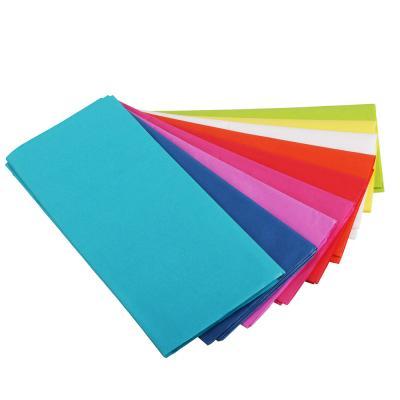 207-065 Бумага тишью, цветная, набор 5 штук 50х66 см, 10 цветов
