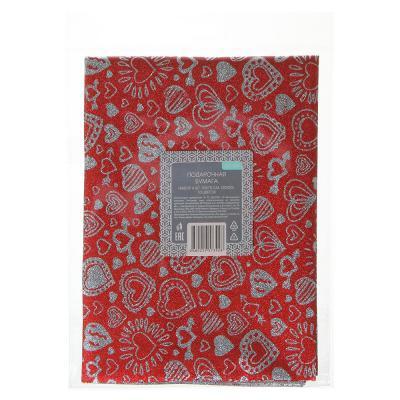 207-068 Набор подарочной бумаги 4 шт, 50х70 см, (20х30) 10 цветов