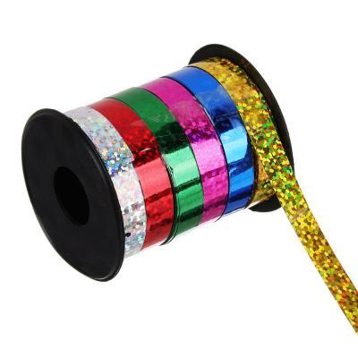 505-042 Лента подарочная голография разноцветная, 0,7 см х18 м