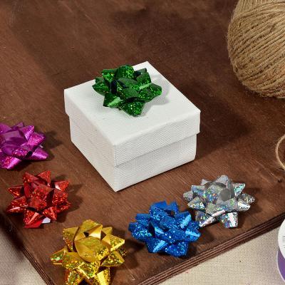 505-053 Набор подарочных бантов, 5,5 см, голография, 6 шт