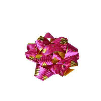 505-055 Набор подарочных бантов, 5,5 см, с рисунком, 6 шт