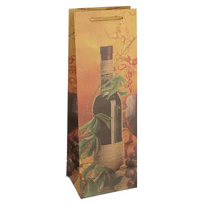 505-073 Пакет подарочный бумажный, крафт, 12х35х9 см, 6 дизайнов