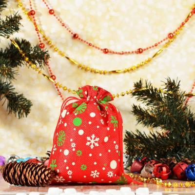 369-380 Мешок подарочный, 15х20 см, полиэстер