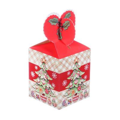 369-386 Коробка подарочная бумажная, 8,5х8,5х18 см, 4 дизайна, арт 1