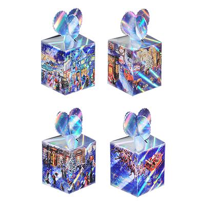 369-387 Коробка подарочная бумажная, 8,5х8,5х18 см, 4 дизайна, арт 2