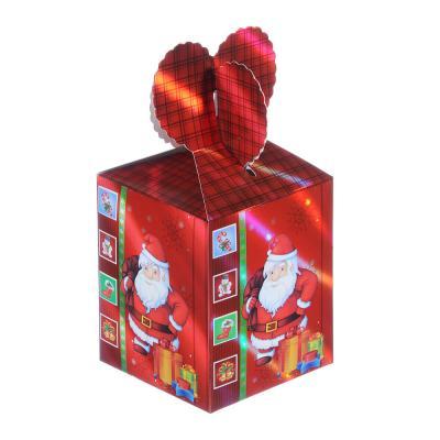 369-389 Коробка подарочная бумажная, 8,5х8,5х18 см, 4 дизайна, арт 4