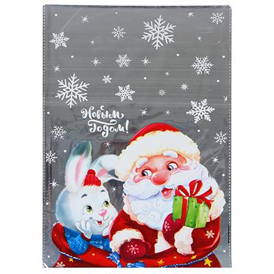 369-391 Пакет подарочный ПВХ, с рисунком, 25х34 см, с фольгой