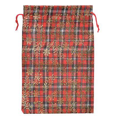369-402 Мешок подарочный ткань, полиэстер, с блестящим слоем, 20х30 см