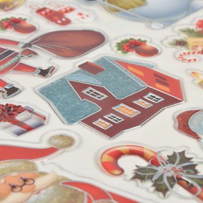 336-341 Наклейка декоративная СНОУ БУМ 22,5х29 см, с глиттером и фольгированным слоем, 6 дизайнов