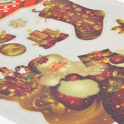 336-342 Наклейка декоративная СНОУ БУМ 33х20,5 см, с блеском, 6 дизайнов