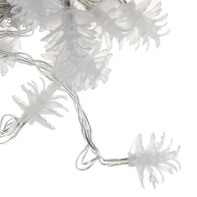"""381-159 Гирлянда светодиодная с насадками СНОУ БУМ """"Сосновая шишка"""", 3м, 15LED, шампань, 220В"""