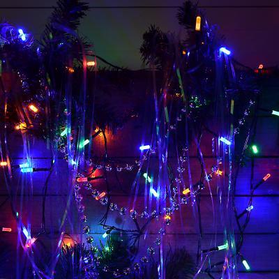 384-060 Гирлянда светодиодная Вьюн СНОУ БУМ 9м, 100 LED-призма, двойной мульти, 8 режимов, ПВХ, 220В