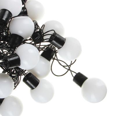 """351-515 Гирлянда электрическая СНОУ БУМ """"Матовый шар"""" 6м, 30LED, RGBYW0 (7 в 1), d32мм, 220В"""