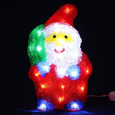 351-526 Светодиодная фигура Дед Мороз с мешком СНОУ БУМ 30 LED, 8 режимов, акрил, 220В, 17х27 см