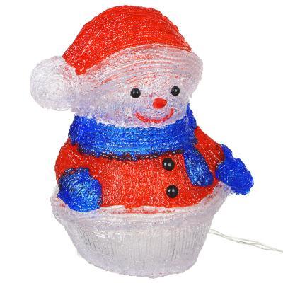 351-527 Фигура новогодняя Снеговик СНОУ БУМ 40 LED, 8 режимов, акрил, 220В, 30х24см