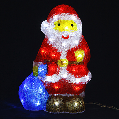 351-528 Светодиодная фигура Дед Мороз  с подарками СНОУ БУМ 40 LED, 8 режимов, акрил, 220В, 35х22см