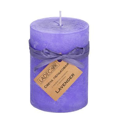 508-608 Свеча пеньковая с эффектом изморози LADECOR, с ароматом, парафин, d6,8х9,5см, 6 ароматов