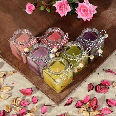 508-609 LADECOR Свеча ароматическая, в стекле, 6,5х6 см, 6 ароматов