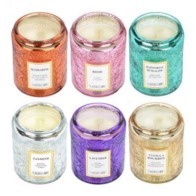 508-610 LADECOR Свеча ароматическая, в стекле, 7х8,7 см, 6 ароматов, блеск
