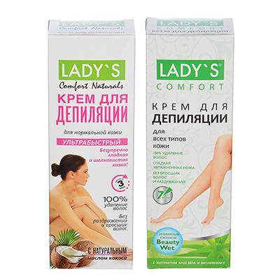 977-097 Крем для депиляции LADY`S для всех типов кожи, ультрабыстрый, 100 мл