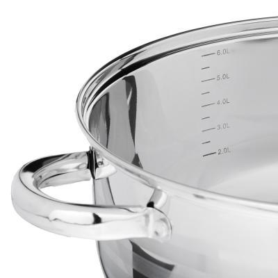 822-191 SATOSHI Рокруа Кастрюля-сотейник 28х12см 7,1л, со стекл. крышкой, индукция, нерж. сталь