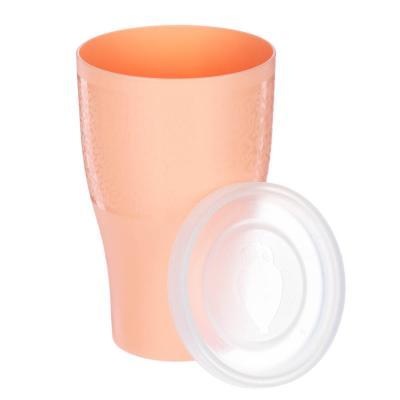 861-278 Стакан с герметичной крышкой, 0,5л, пластик, 3 цвета
