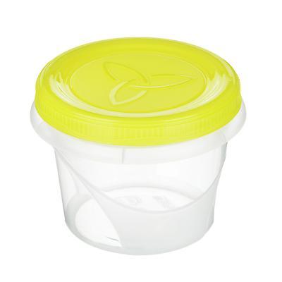 861-279 Банка для хранения продуктов пластиковая с завинчивающейся крышкой 0,3 л, 3 цвета