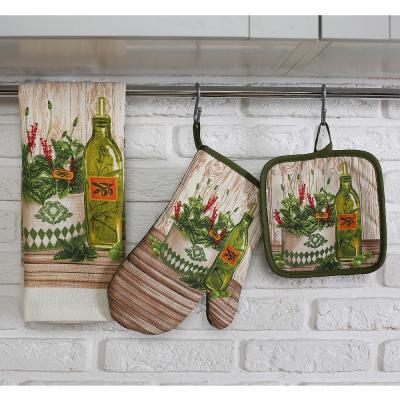 434-074 Кухонное полотенце PROVANCE Прованские травы 80% хлопок 20% полиэстер, 38x63см