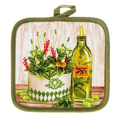 493-087 Прихватка для кухни PROVANCE Прованские травы 17х17см, полиэстер