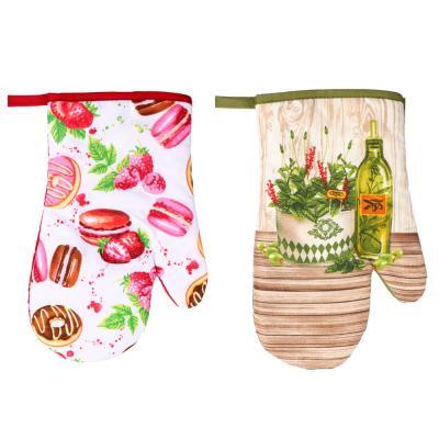 493-088 Прихватка-варежка для кухни PROVANCE Прованские травы 27см, полиэстер