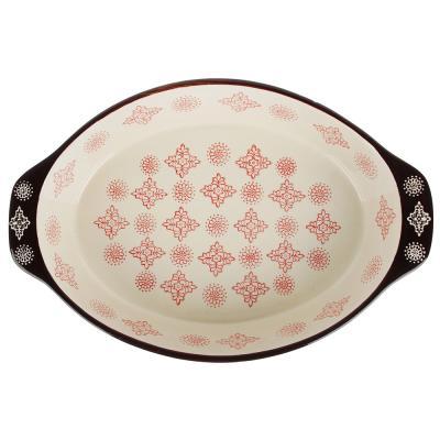 826-305 MILLIMI Форма для запекания и сервировки овальная с ручками, керамика, 31х20,5х6см, 1500мл, красн