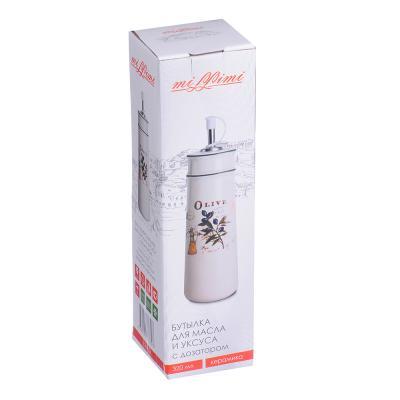 824-334 MILLIMI Вилладжио Бутылка для масла и уксуса с дозатором, 320мл, 6,5х22см, керамика