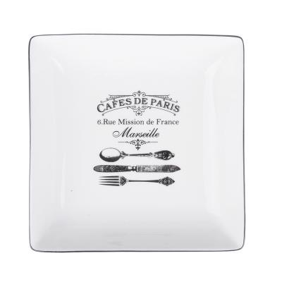 824-349 MILLIMI Кафе де Пари Блюдо квадратное, 18х18х4,5см, керамика