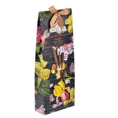 412-035 LADECOR Ароманабор 100мл с 6 палочками, 4 аромата (магнолия, лаванда, роза, фрезия)