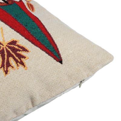"""497-031 Наволочка декоративная гобелен PROVANCE """"Совушки"""" 45х45см, полиэстер, 4 дизайна"""
