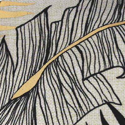 "497-037 Наволочка декоративная рогожка PROVANCE ""Золото"" 40х40см, полиэстер, 4 дизайна"