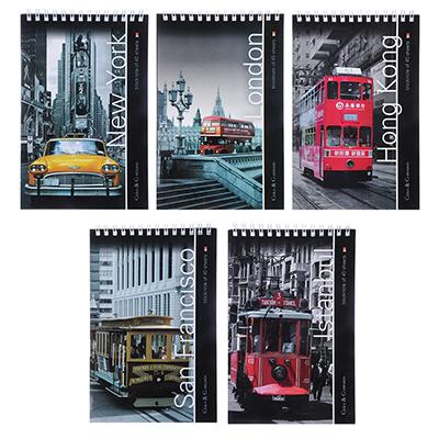524-204 Блокнот А5 40л., офсет, обложка картон, спираль, 3-40-463/3-40-053