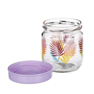 828-221 Банка для сыпучих продуктов HEREVIN Тропики, стекло, 425мл