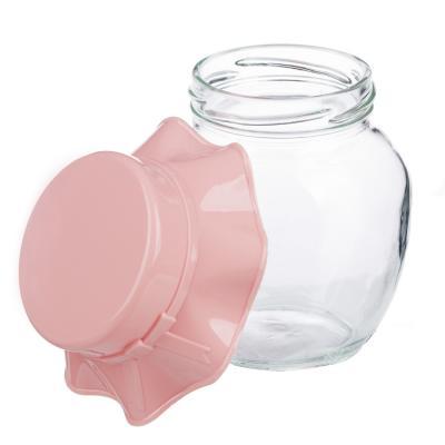 828-223 Банка для сыпучих продуктов HEREVIN, стекло, 370мл