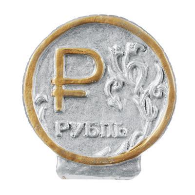 511-205 Копилка в виде рубля, гипс, 16х7,5х15 см, арт. 329