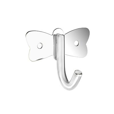 555-007 SonWelle Крючок бабочка с креплением, металл