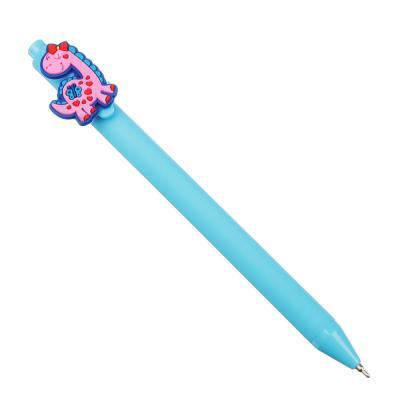 622-018 Авторучка шар. синяя, с фигуркой, 14,5 см, 0,7мм,чернила на масл.основе,прорез. корпус,6 дизайнов