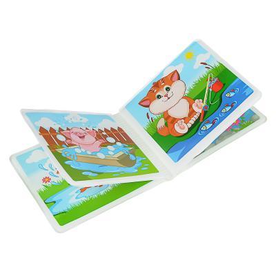 260-022 ИГРОЛЕНД Набор для ванной с книгой, 4 пр., ПВХ, PEVA, 15х12,5х6см