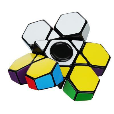 "214-018 Головоломка-спиннер ""Собери цвета"", пластик, 7,8х7,8х2,2см"