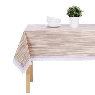 """479-279 Скатерть 140х180 см PROVANCE """"Настроение"""" с ажурной каймой, 6 дизайнов, ПВХ"""